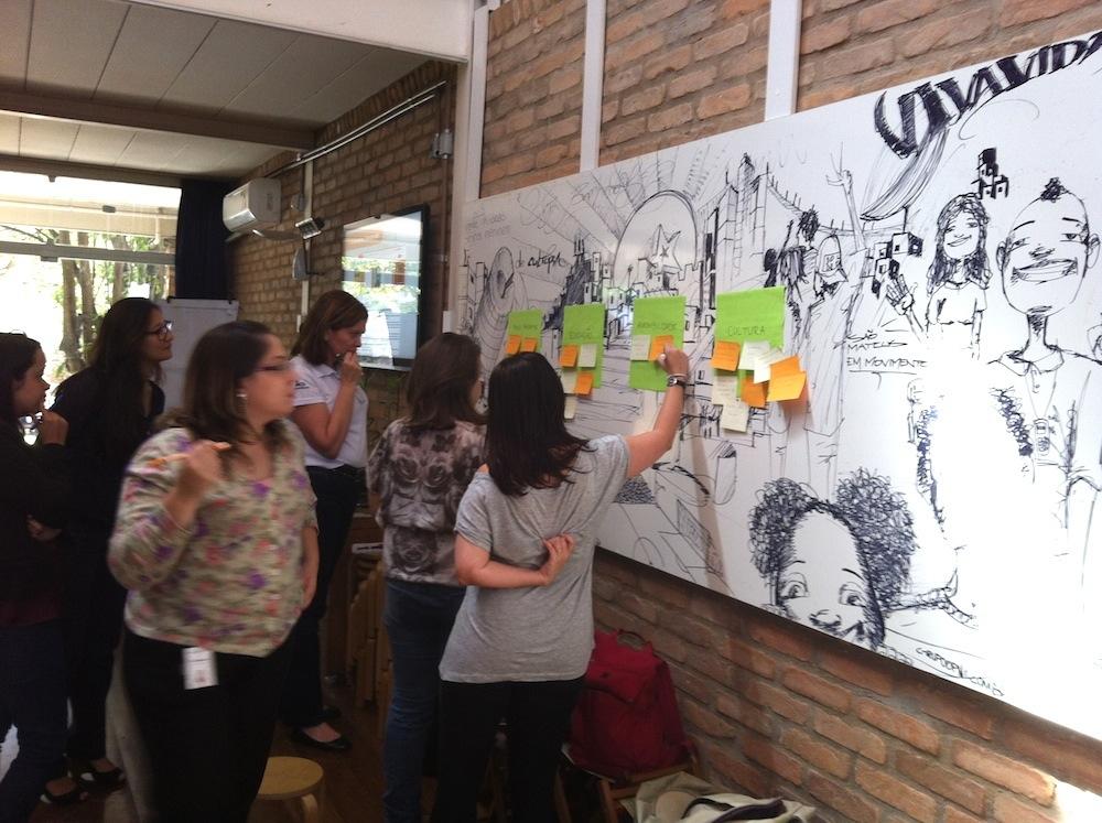 participantes votando em suas ações preferidas