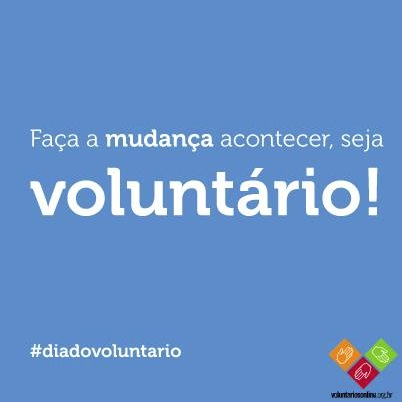 Cartaz Voluntários OnLine