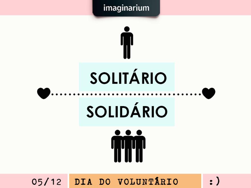 Cartaz Imaginarium: Solitário X Solidário