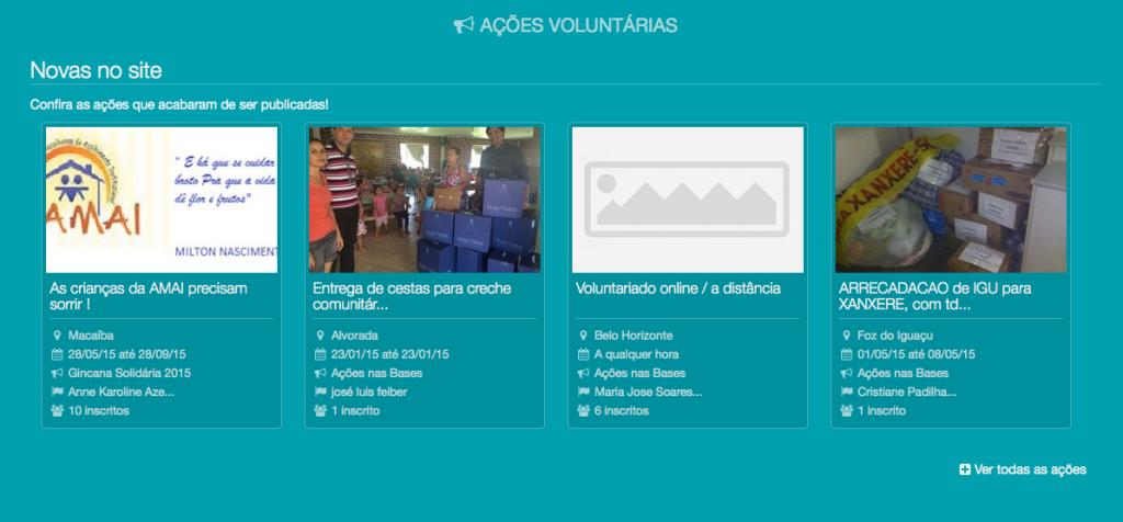 Portal Voluntariado Azul