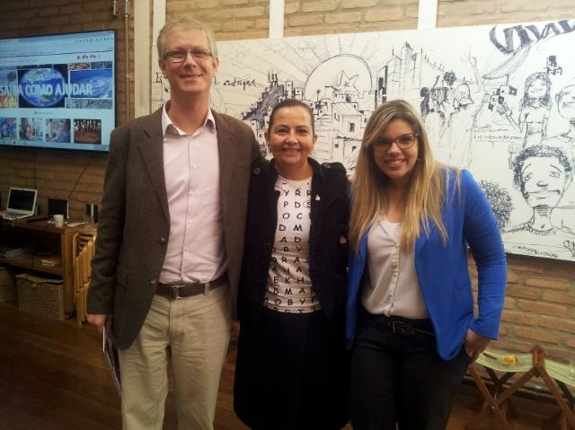 Bruno Ayres, Silvia Naccache e Aline Gomes
