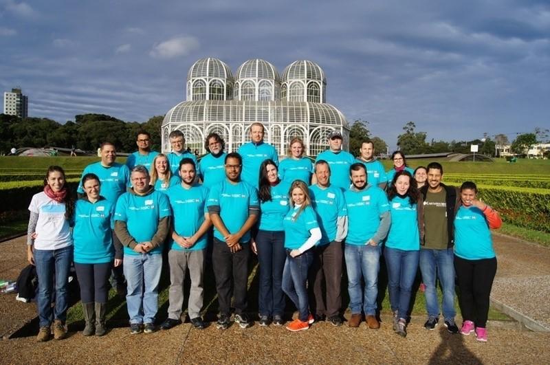 Líderes Voluntários da Ciência em treinamento