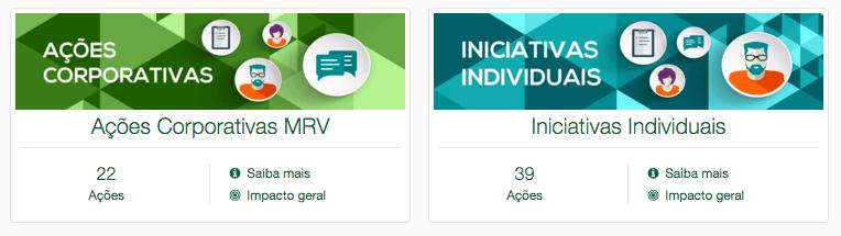 Recorte de tela do Portal MRV Voluntários