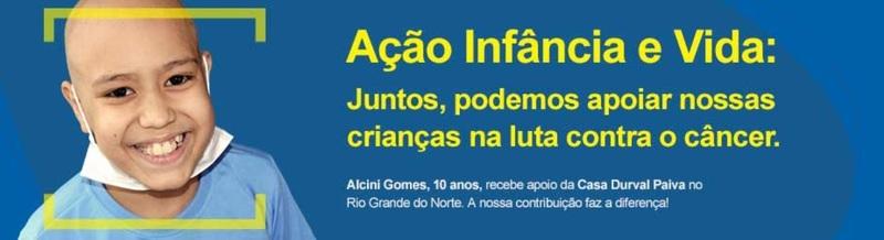 """Peça da """"Ação Infância e Vida"""", campanha do Banco do Brasil e parceria com a Confederação Nacional das Instituições de Apoio e Assistência às Crianças e Adolescentes com Câncer - Coniacc."""