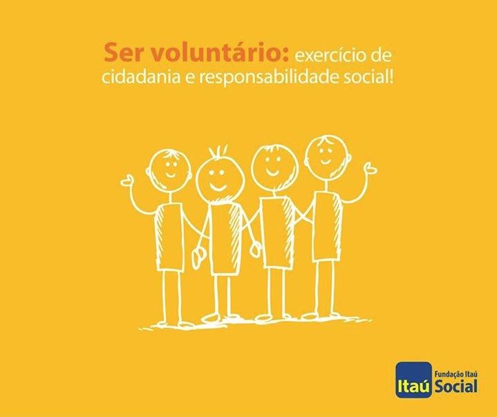 Cartaz Fundaçào Itaú SOcial para o Dia do Voluntário