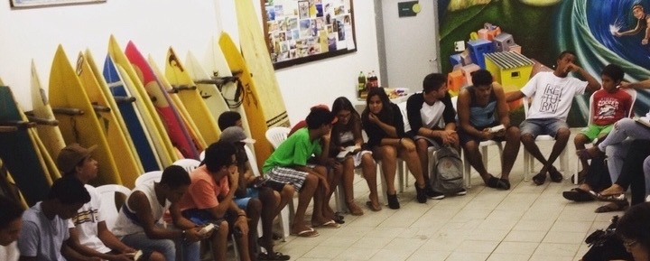 Reunião na Escola Surf da Rocinha